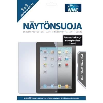 WAVE Näytönsuojakalvo - Yhteensopiva: AppleiPad2 ja uusi iPad.