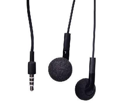 WAVE STEREO NAPPIHF, musta, mikrofonilla, 3,5mm plugi