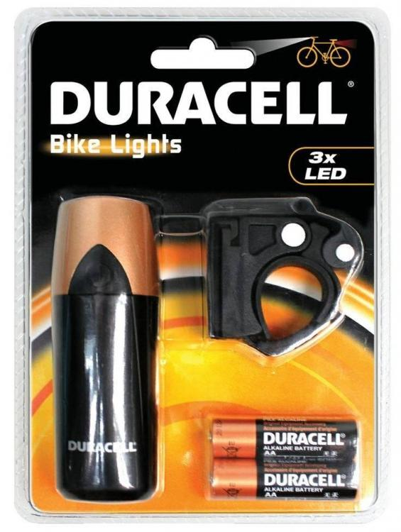 DURACELL BIKE LIGHTS F01 polkupyörän etuvalo 3-ledillä