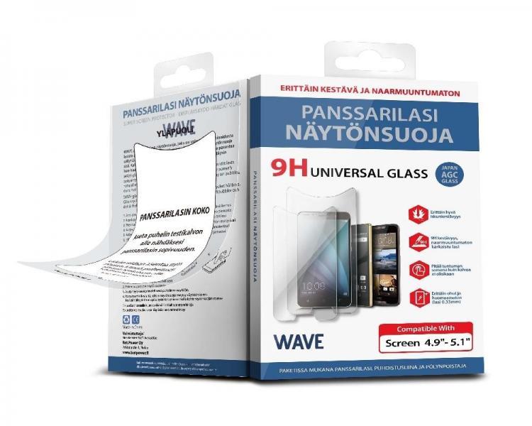 """WAVE Yleissopiva lasikalvo, 4,9-5,1\""""-näyttöisille puhelimille"""