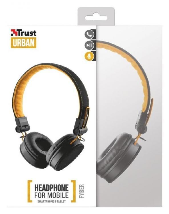 Trust UR FYBER kuulokkeet. Musta/Oranssi