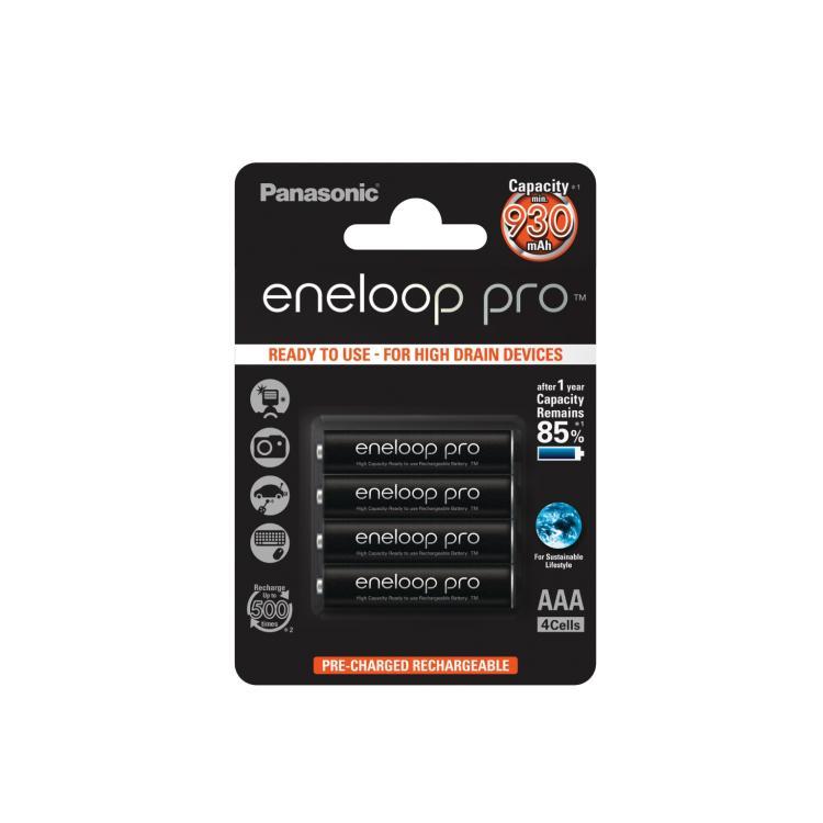 Panasonic Eneloop pro AAA-akku 930mAh 4kpl/pkt