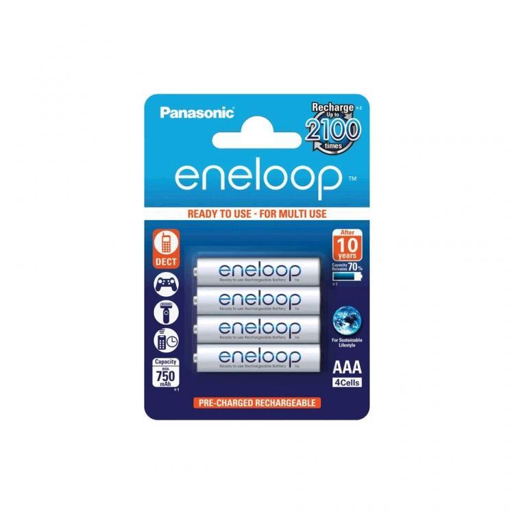 Panasonic Eneloop AAA-akku 750mAh 4kpl/pkt