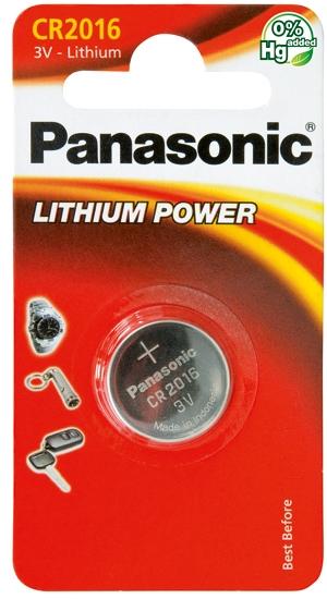Panasonic Coin Lithium CR2016-paristo  1kpl