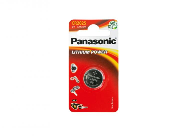 Panasonic Coin Lithium CR2025-paristo  1kpl