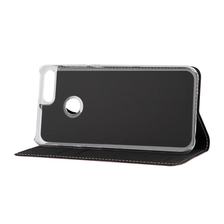 WAVE Book case kotelo RFID -suojauksella. Ruusukulta, Honor 9 Lite