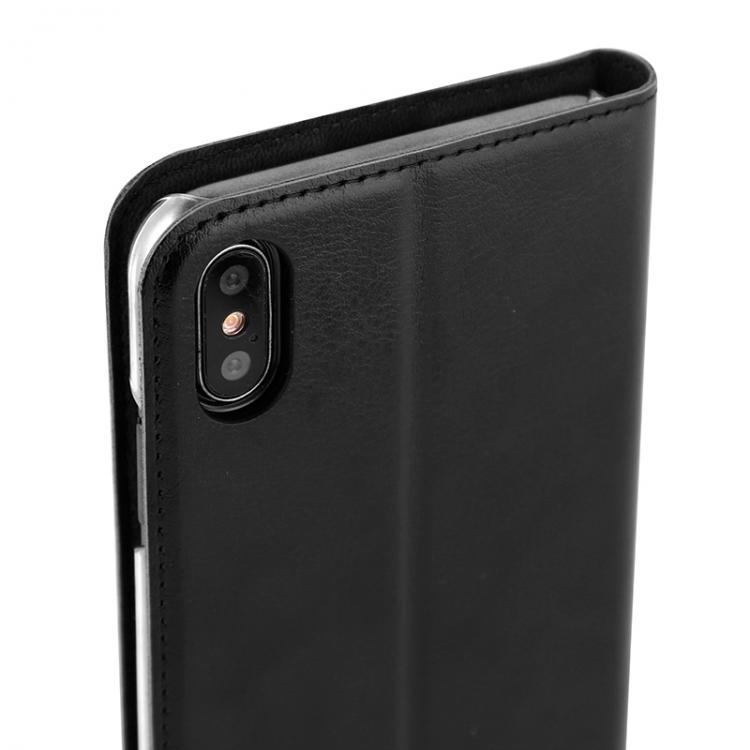 WAVE Book Case musta suojakotelo Apple iPhone XS Max