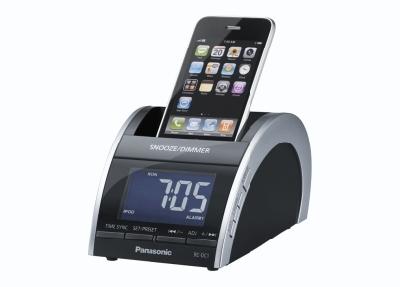 Panasonic RC-DC1EG-K ipod/iPhone telakka ja Kelloradio