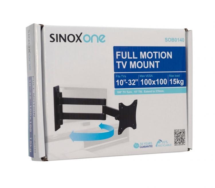 """Sinox ONE SOB0140 nivelellä kääntyvä seinäteline 10\"""" - 26\"""""""