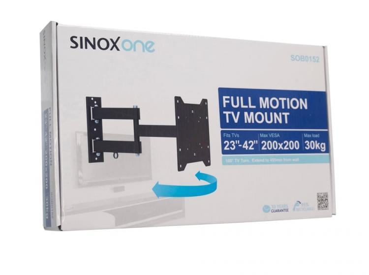 """Sinox ONE SOB0152 seinäteline 23\""""-42\"""" taulutelevisioille, kääntyvä ja kallistuva"""