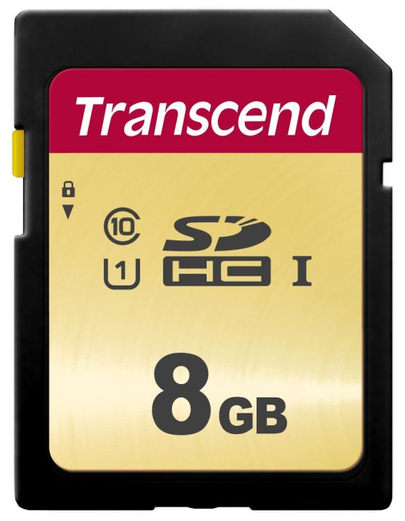 TRANSCEND 8GB UHS-I U1 SD Card, MLC