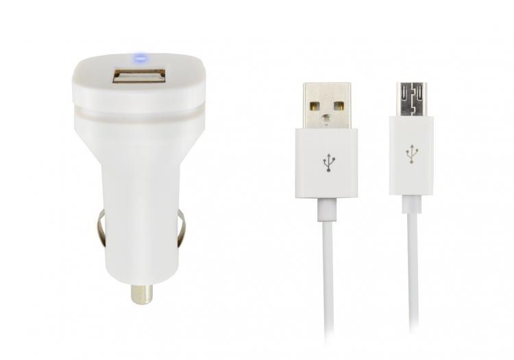 WAVE AUTOLATURISOVITIN + MicroUSB lataava datakaapeli 3.1A 2:lla USB liittimellä