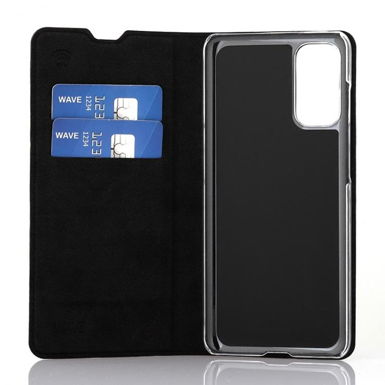Wave Book Case, Samsung Galaxy S20, Musta