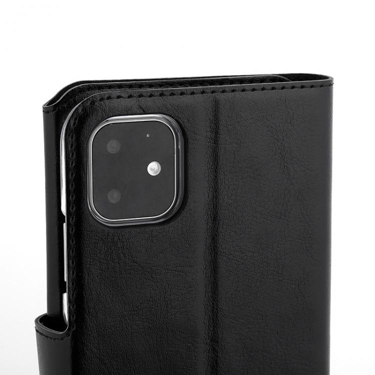 Wave Multipocket Book Case, Apple iPhone 11, Musta