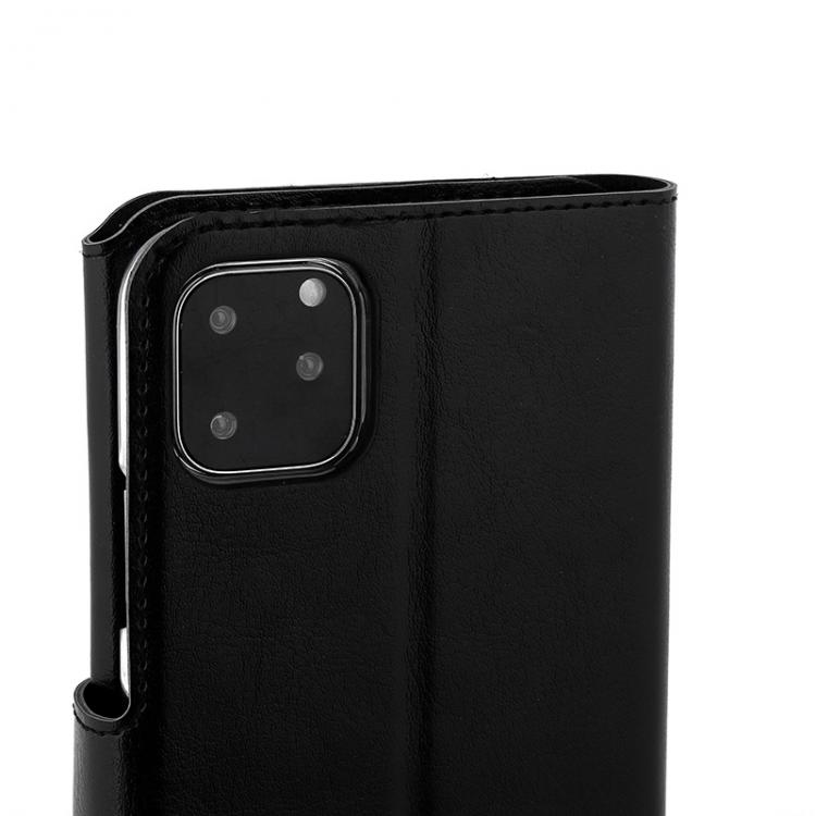 Wave Multipocket Book Case, Apple iPhone 11 Pro Max, Musta