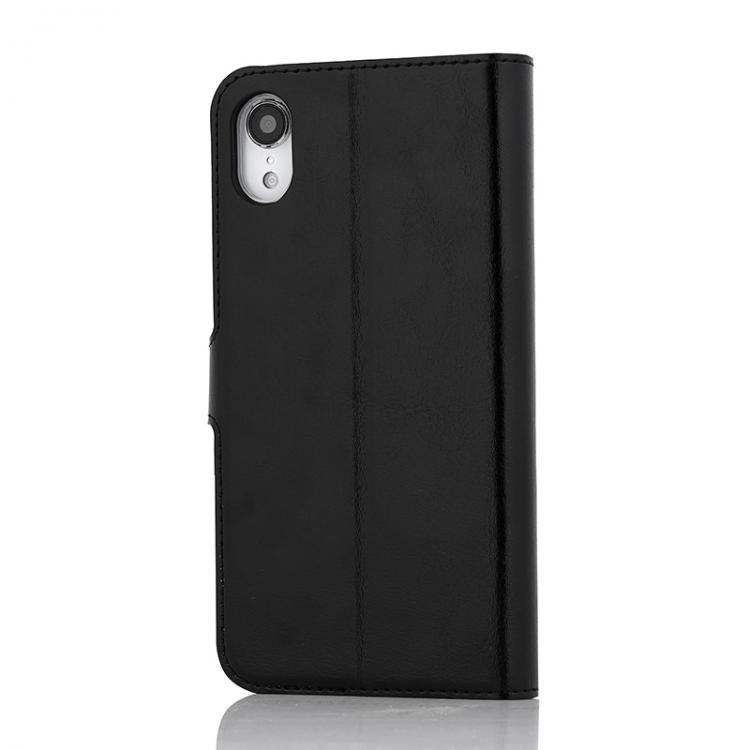 Wave Multipocket Book Case, Apple iPhone XR, Musta