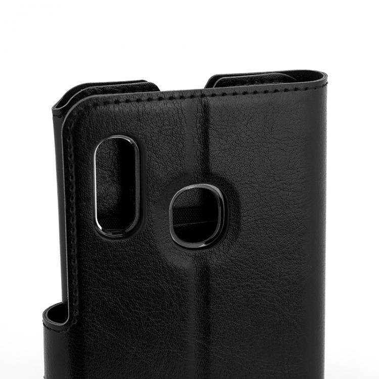 Wave Multipocket Book Case, Samsung Galaxy A20e, Musta