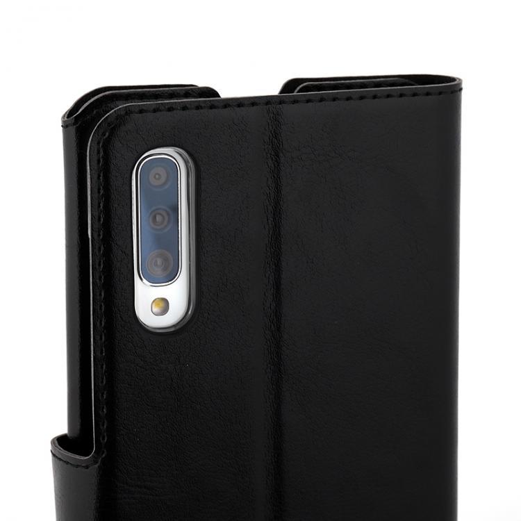 Wave Multipocket Book Case, Samsung Galaxy A70, Musta