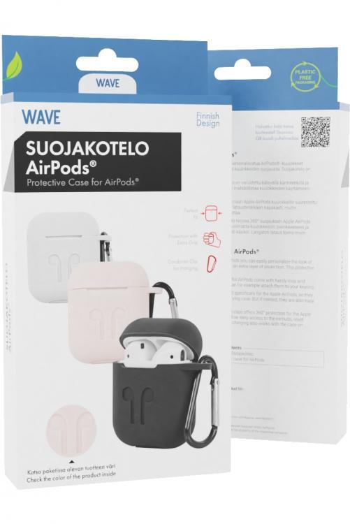 Wave Silikonikuori - Apple AirPods - Vaaleanpunainen